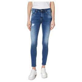 Trussardi-Artifically distressed jeans with cuffs 27/32-Blue