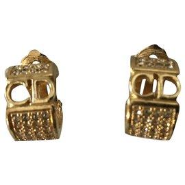 Dior-Boucles d'oreilles-Bijouterie dorée