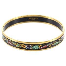 Hermès-Bracelet Hermès Cloisonné Noir-Noir,Multicolore