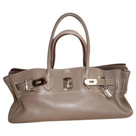 Hermès-Handbags-Taupe