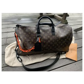 Louis Vuitton-Keepall virgil abloh-Dark brown