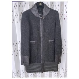 Chanel-leather trim coat / jacket-Multiple colors