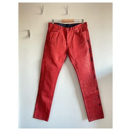 Maison Martin Margiela-Pants-Red