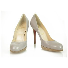 Christian Louboutin-CHRISTIAN LOUBOUTIN 120mm Round Toe light lilac platform pumps Heels size 40-Purple