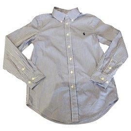 Ralph Lauren-T-shirts-Blanc,Bleu clair
