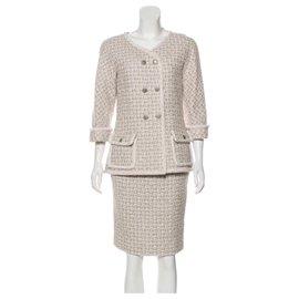 Chanel-11K$ tweed suit-Beige