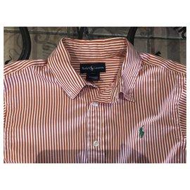 Ralph Lauren-T-shirts-Blanc,Orange