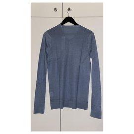 Autre Marque-Fine collection Pull 100% cashmere-Blue