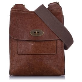 Mulberry-Mulberry Brown Antony Leather Crossbody Bag-Brown