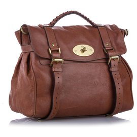 Mulberry-Mulberry Brown Alexa Leather Satchel-Brown