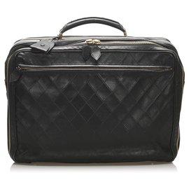 Chanel-Chanel Black Timeless Leather Business Bag-Black