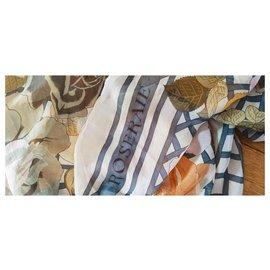 Hermès-Hermès Roseraie shawl-Multiple colors