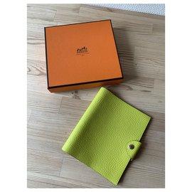 Hermès-Clutch bags-Light green