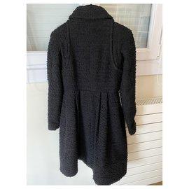 Chanel-CHANEL BLACK COAT-Black