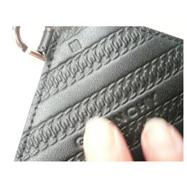 Givenchy-GIVENCHY Large Leather pouch with box and ribbon ideal for gift-Black