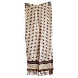 Louis Vuitton-Men Scarves-Beige,Dark brown