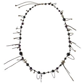 Chanel-Long necklaces-Black,Silvery,Purple