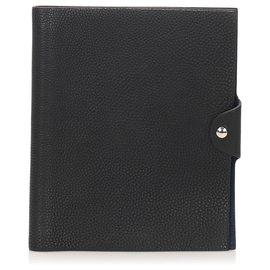 Hermès-Hermes Black Togo Ulysse MM Agenda Cover-Black