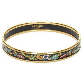 Hermès-Bracelet Hermès Multi Cloisonné-Multicolore,Doré