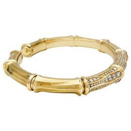 """Cartier-Bracelet Cartier, """"Bamboo"""", or jaune, diamants.-Autre"""