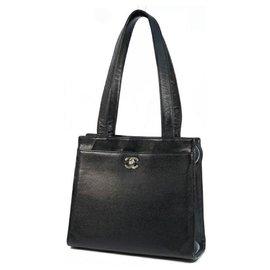 Chanel-CHANEL shoulder bag Womens tote bag black x silver hardware-Black,Silver hardware