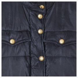 Chanel-MAXI DOWN JACKET FR40-Black