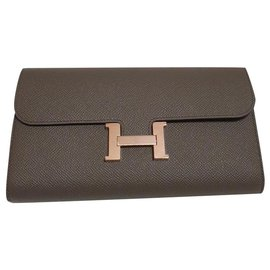 Hermès-Constance long wallet to go-Grey