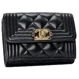 Chanel-Chanel Tri-fold Wallet-Black