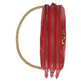 Gucci-Mini GG Marmont shoulder bag-Red