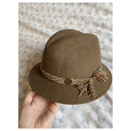 Maison Michel-Hats-Light brown