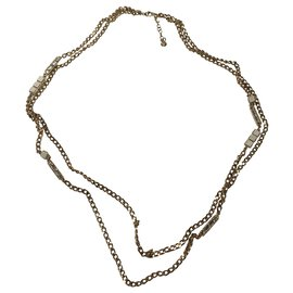 Chanel-Chanel chain necklace-Golden