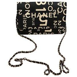 Chanel-Clutch bags-Black,Beige