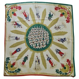 Hermès-Hermes Gloire de La Legion Etranger-White,Red,Green