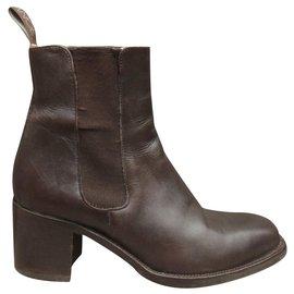 Free Lance-Free Lance boots size 38,5-Dark brown