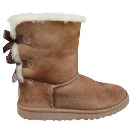 Ugg-Ugg girl p ankle boots 33-Beige