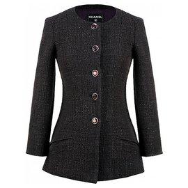 Chanel-Gripoix buttons tweed jacket-Purple