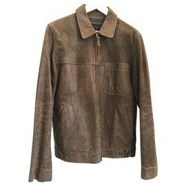 Autre Marque-Chevignon brown leather jacket-Brown