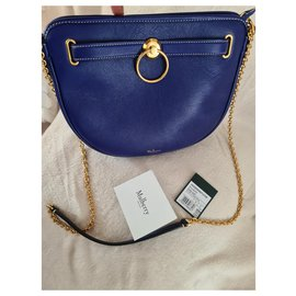 Mulberry-Mulberry Brockwell Cobalt Blue Silky Calf - Never worn-Blue
