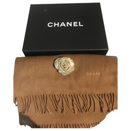 Chanel-Scarves-Brown,Caramel