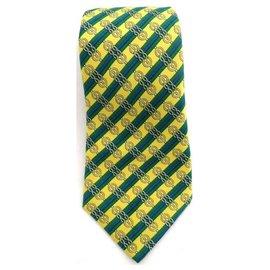 Hermès-Hermès vintage tie, Very good condition-Yellow