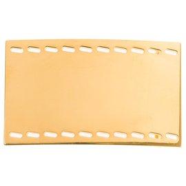 Hermès-Hermès rectangular belt buckle in gold-plated metal (37MM)-Golden