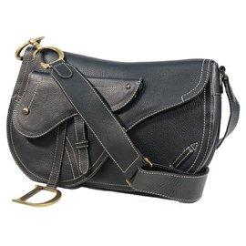 Dior-Dior saddle bag Womens shoulder bag black-Black