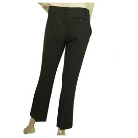 Alexander Mcqueen-Alexander Mc Queen Black Cropped Flare Pants Trousers - size 38-Black