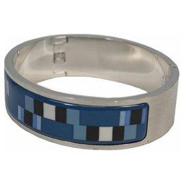 Hermès-Bracelet Hermes en acier inoxydable pour femme bleu-Autre
