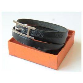 Hermès-Bracelet BeHapi Hermès Noir, Mixte-Noir