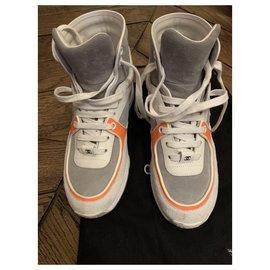 Chanel-Sneakers-White,Orange