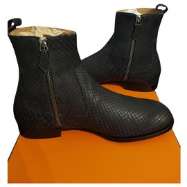 Hermès-Hermes shoes-Dark grey