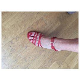 Chanel-Vintage Dress Sandals-Red
