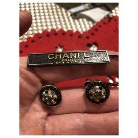 Chanel-Earrings-Black