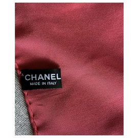 Chanel-Silk scarves-Pink
